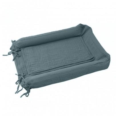 housse de matelas langer bleu gris numero 74 univers b b smallable. Black Bedroom Furniture Sets. Home Design Ideas