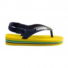 Tongs Baby Brasil Logo  Jaune citron