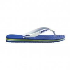 Tongs Brasil Logo  Bleu azur