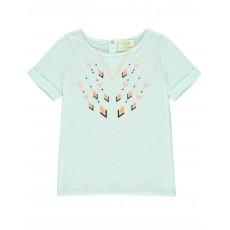 T-shirt Flèches Dans Le Mille Vert d'eau