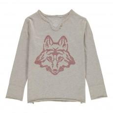 T-shirt Manches Longues Loup Gris chiné