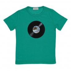 T-shirt Disque Record Vert émeraude