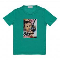 T-shirt 007  Bleu turquoise