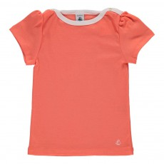 T-shirt Basic Encolure Amiral Corail