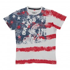 T-shirt USA Blanc