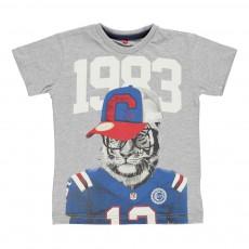 T-shirt Tigre Gris chiné