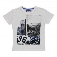 T-shirt Baseball Blanc
