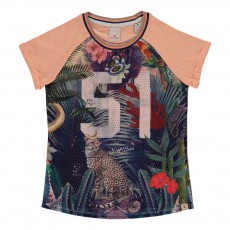 "T-shirt Collège Tropical ""51"" Multicolore"