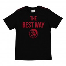 "T-Shirt Slim ""The Best Way"" Totty Noir"