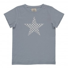 T-Shirt Imprimé Star Bleu gris