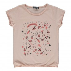 T-Shirt I Love Summer Eddie Vieux Rose