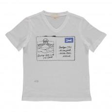 T-Shirt Carte Postale LA Blanc