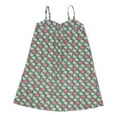 Robe Imprimée Oiseaux Capri Vert