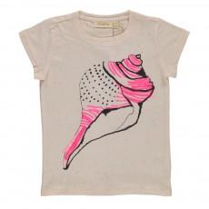T-shirt Moucheté Lili Conch Vanille