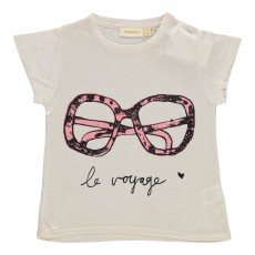 T-shirt Pilou Lunette Ecru chiné
