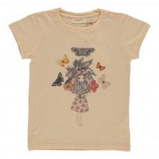 T-shirt Lili Butterfly Girl Vanille