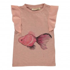 T-shirt Lotus Fishy Rose pêche