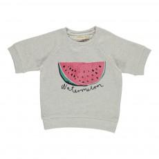 Sweat Manches Courtes Wilson Watermelon Ecru
