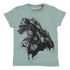 T-shirt Ashton Clouded Leopard Vert d'eau
