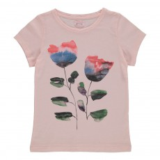 T-shirt Fleurs Rose pâle