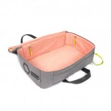 Valise de maternité chic - Intérieur nuage rose