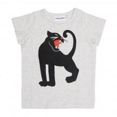 T-Shirt Panthère Gris chiné