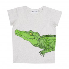 T-Shirt Croco Gris chiné