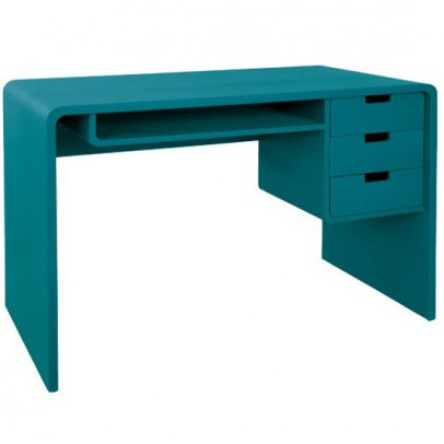 bureau l65 bleu canard laurette mobilier smallable. Black Bedroom Furniture Sets. Home Design Ideas