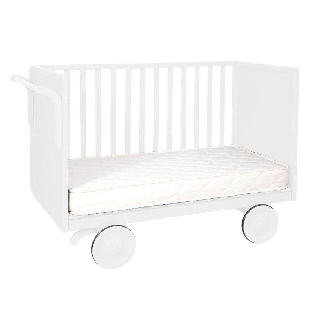 lit volutif roulotte 60x120 cm blanc laurette. Black Bedroom Furniture Sets. Home Design Ideas