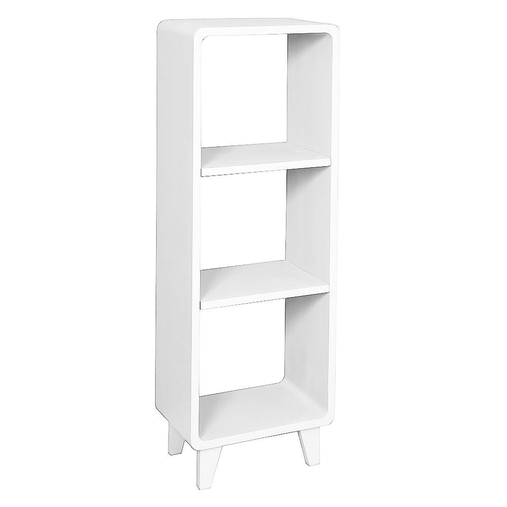 Colonne millefeuille blanc laurette mobilier smallable for Laurette meubles