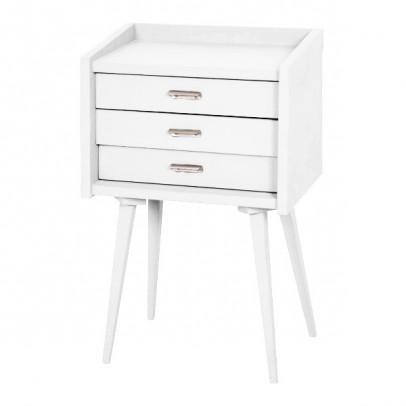 table de chevet des secrets blanc le fait main. Black Bedroom Furniture Sets. Home Design Ideas