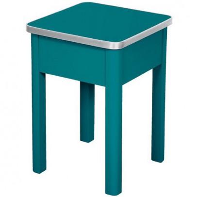 tabouret de cirage bleu canard laurette mobilier. Black Bedroom Furniture Sets. Home Design Ideas