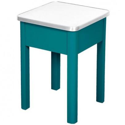 tabouret de cirage aluminium bleu canard laurette mobilier smallable. Black Bedroom Furniture Sets. Home Design Ideas
