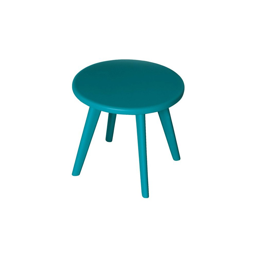 tabouret haricot bleu canard laurette mobilier smallable. Black Bedroom Furniture Sets. Home Design Ideas