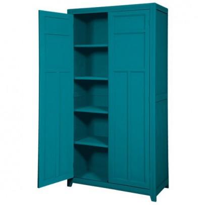 armoire parisienne bleu canard laurette mobilier. Black Bedroom Furniture Sets. Home Design Ideas