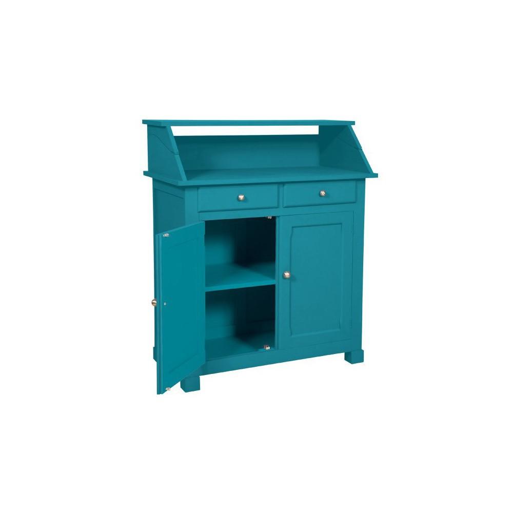 buffet surprise bleu canard laurette mobilier smallable. Black Bedroom Furniture Sets. Home Design Ideas