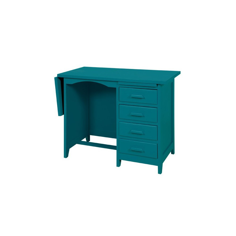bureau de comptable bleu canard laurette mobilier smallable. Black Bedroom Furniture Sets. Home Design Ideas