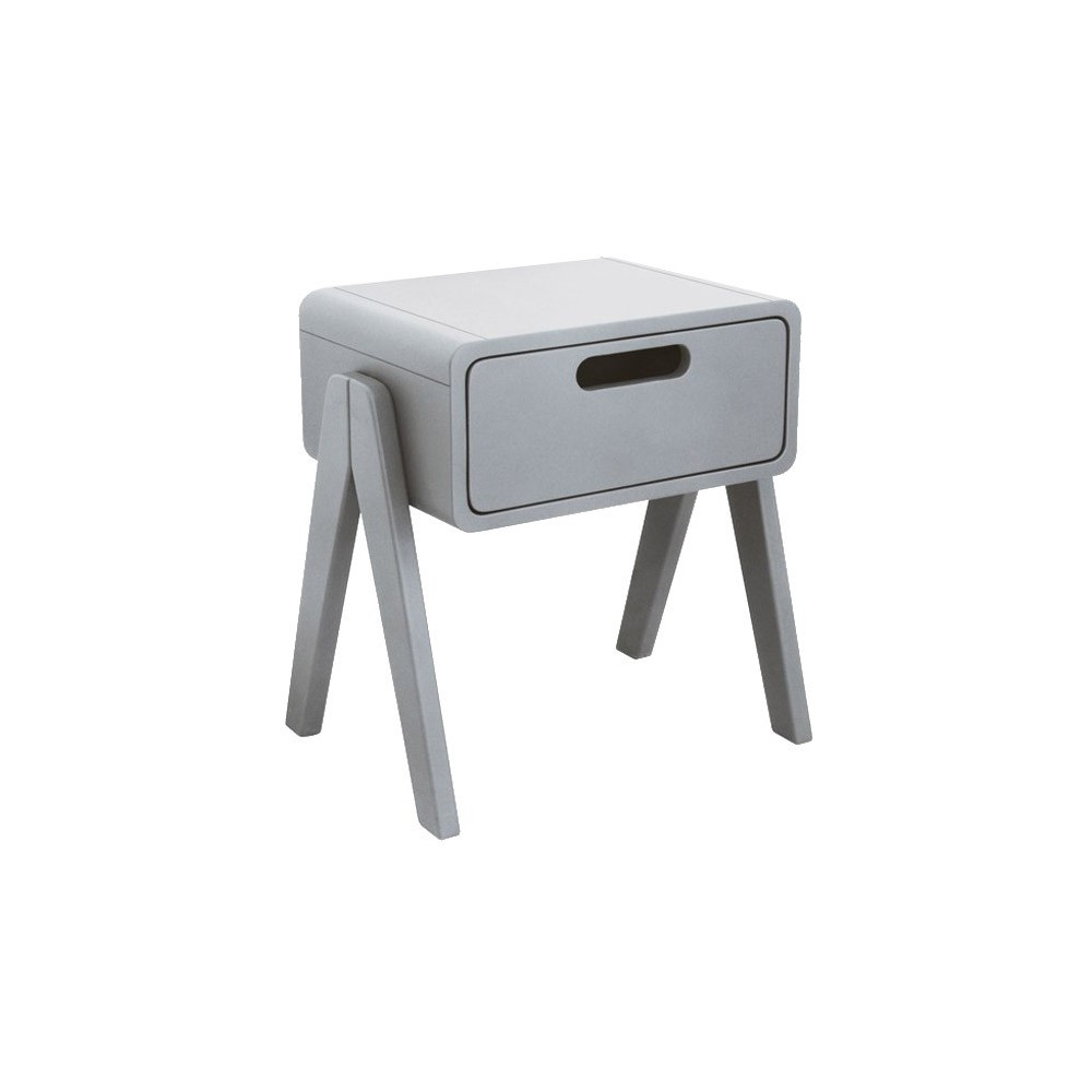 Table de chevet petit robot gris clair laurette for Comodino piccolo