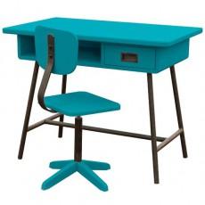 Bureau La classe et sa chaise d'atelier - Bleu canard