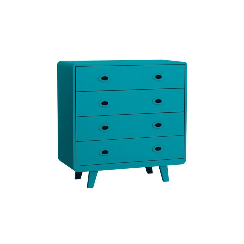 commode toi et moi bleu canard laurette mobilier. Black Bedroom Furniture Sets. Home Design Ideas