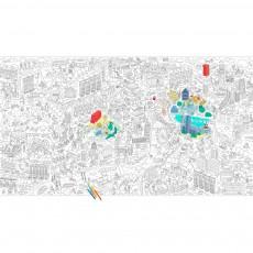 Coloriage géant Londres