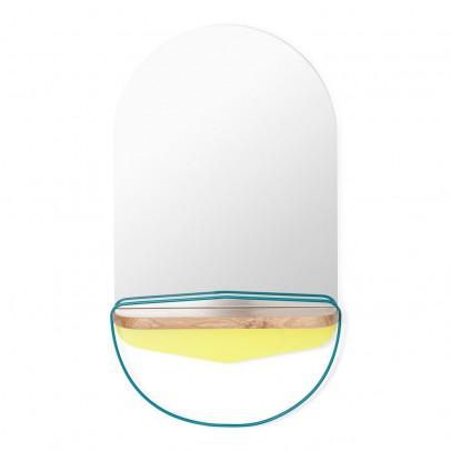 Miroir modeste jaune citron et bleu turquoise hart for Miroir jaune