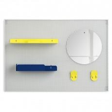 Rangement mural Alfred - Jaune citron et bleu marine