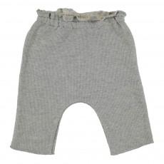 Pantalon Molleton Lurex Gris