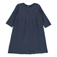 Robe Molleton Bleu indigo