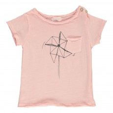 T-shirt Moulin A Vent Rose pêche