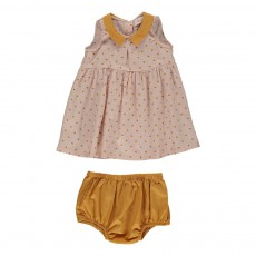 Ensemble Robe Et Bloomer Audrey Ocre
