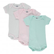 Lot de 3 Bodies Unis Pastelle Multicolore