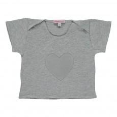 T-shirt Cœur Gris