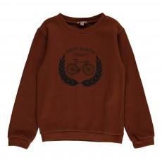 Exclusivité - Sweat Vélo Saint Martin Caramel